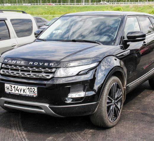 Ufa, Russia - May 24, 2015: Motor car Range Rover Evoque is parked in the city street.